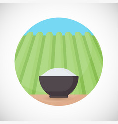 bowl of rice flat icon vector image