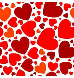 Bright red hearts vector image