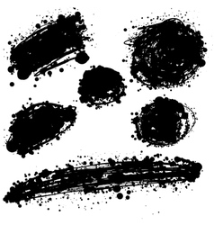 brush stain set vector image