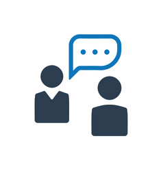 Business conversation icon vector