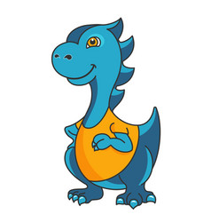 Cartoon dragon or dinosaur mascot vector