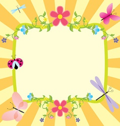 Cartoon frame summer or spring easter vector