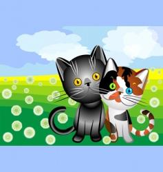 Cats love vector