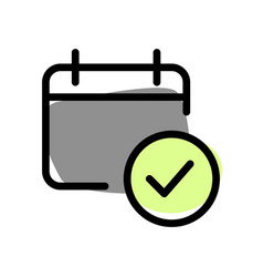 Check scheduled objectives from planned calendar vector