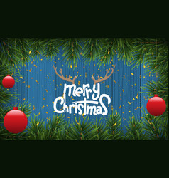 christmas background or fir border with fir vector image