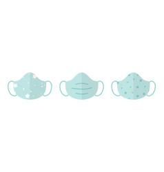 Cloth masks sheet masks for face set vector