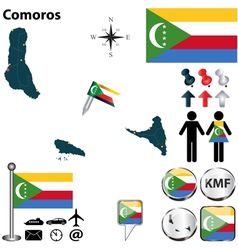 Comoros map vector image
