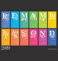 Creative calendar 2019 vector