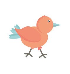 Cute bird comic icon vector