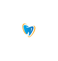 dent tooth sign business logo vector image