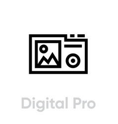 digital pro flat icon editable outline vector image