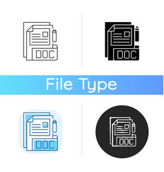doc file icon vector image