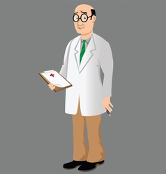 doctor with bad news vector image