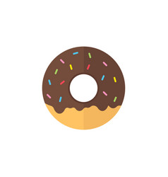 donut flat icon food drink elements vector image