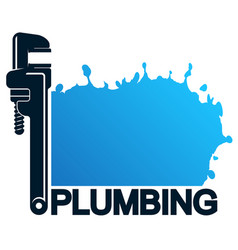 drops water and a wrench for plumbing vector image