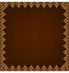 Eastern pattern frame vector