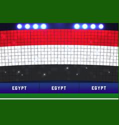 Egypt soccer or football stadium background vector