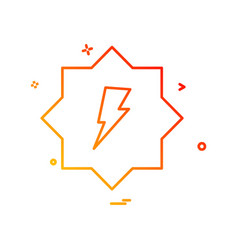 Electric current icon design vector