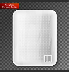 empty black food tray vector image
