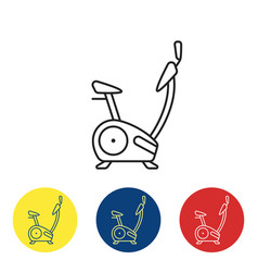 Exercise bike fit icons vector