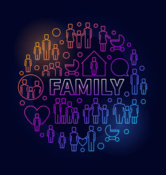 Family bright round vector