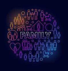 Family bright round vector