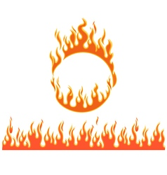 fire flames different shapes vector image