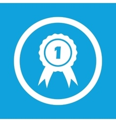 First place sign icon vector
