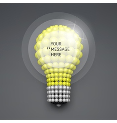 Frame with Place for Text 3d Lightbulb Concept vector