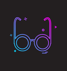 glasses icon design vector image