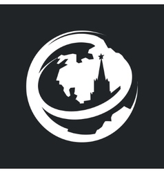Globe Moscow Kremlin Tourism vector