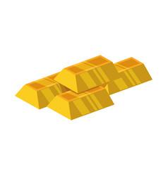 Goldbars ingots gold stock vector