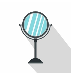Gray makeup mirror icon flat style vector image