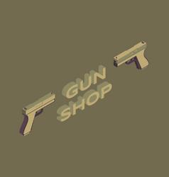 gun shop flat banner template military vector image