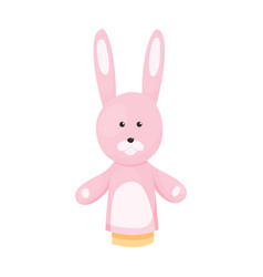 hand or finger puppets play doll rabbit cartoon vector image