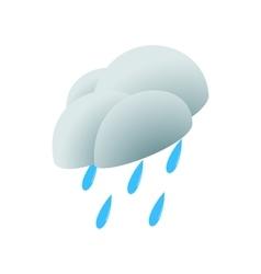 Heavy rain icon isometric 3d style vector image