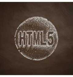 HTML5 icon vector