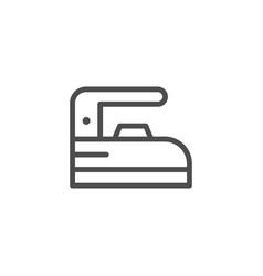 Iron line icon vector