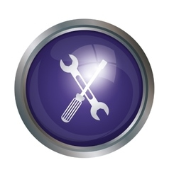 Isolated wrench and screwdriver design vector image