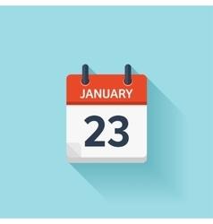 January 23 flat daily calendar icon Date vector