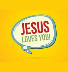 jesus loves you text in balloons vector image