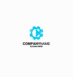 letter c logo icon design template stock vector image