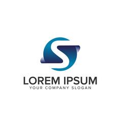 letter s modern 3d logo design concept template vector image