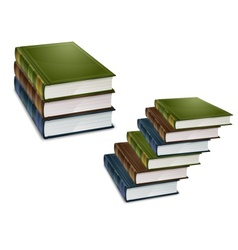 library books vector image