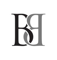 Linked letter b initials lettermark symbol design vector