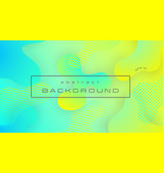 liquid yellow blue gradient color abstract vector image
