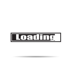 loading icon with shadow vector image