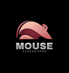 Logo mouse gradient colorful style vector