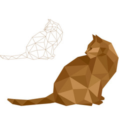 Low polygon cat vector