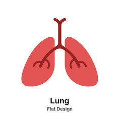 Lung flat vector